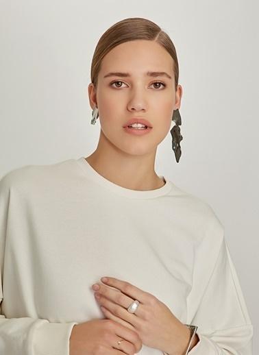 Monamoda Oversize Sweatshirt Beyaz